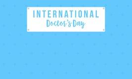 Collection de style de carte de jour de docteur d'Intertational illustration stock