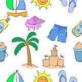Collection de style de modèle de thème d'été Image libre de droits