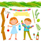 Collection de Sukkot illustration stock