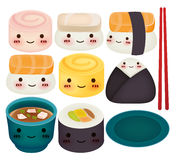 Collection de sushi Images libres de droits