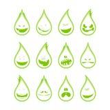 Collection de symboles drôles de baisses, émotions Images stock