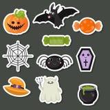 Collection de symboles de Halloween Photos libres de droits