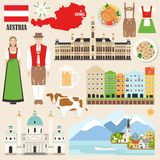 Collection de symboles de l'Autriche illustration de vecteur
