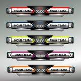 Collection de tableau indicateur du football du football Images libres de droits