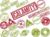 Collection de 22 tampons en caoutchouc grunges rouges avec le texte Photos libres de droits