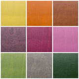 Collection de textures en bois colorées Photos stock