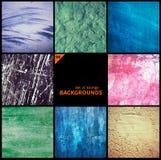 Collection de textures grunges et de milieux Photo libre de droits