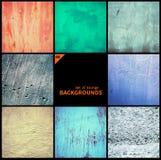 Collection de textures grunges et de milieux Image stock