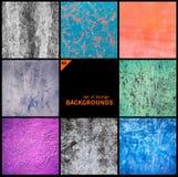 Collection de textures grunges et de milieux Photographie stock