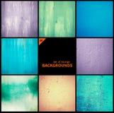 Collection de textures grunges et de milieux Photographie stock libre de droits