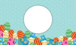 Collection de thème de Pâques de cadre Images stock