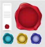 Collection de timbre de joint de cire vérifiez l'ensemble de timbre illustration stock