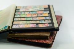 Collection de timbre-poste de vintage images stock