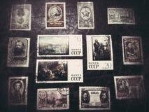 Collection de timbres Photo stock