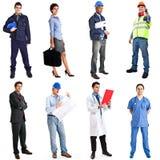 Collection de travailleurs Photographie stock libre de droits