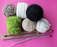 Collection de tricotage Photos libres de droits