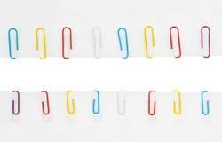Collection de trombones colorés image libre de droits