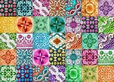Collection de tuiles de modèles dans différentes couleurs illustration stock