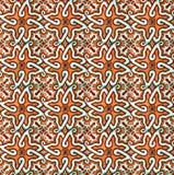 Collection de tuiles oranges de modèles images libres de droits