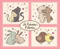 Collection de valentines de saint Photo libre de droits
