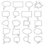 Collection de vecteur de 20 bulles comiques formées différentes de la parole illustration libre de droits