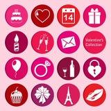 Collection de vecteur d'icônes du jour de valentine de St Photos libres de droits