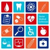 Collection de vecteur d'icônes médicales Photos libres de droits