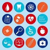 Collection de vecteur d'icônes médicales Photos stock