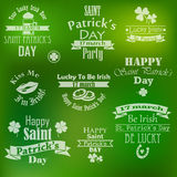 Collection de vecteur de bannières du jour de St Patrick Photographie stock libre de droits
