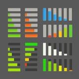 Collection de vecteur de barre de charge Éléments d'application Images libres de droits