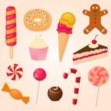 Collection de vecteur de bonbons Photographie stock libre de droits