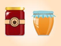 Collection de vecteur de confiture et de miel Image libre de droits