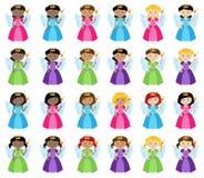 Collection de vecteur de fées mignonnes et diverses illustration libre de droits
