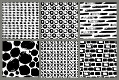 Collection de vecteur de modèles d'encre Images stock