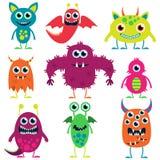 Collection de vecteur de monstres mignons illustration stock
