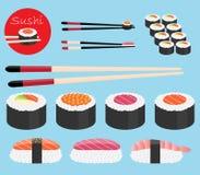 Collection de vecteur de sushi Photo libre de droits