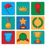 Collection de vecteur de symboles de récompense et de trophée Photos libres de droits