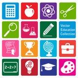 Collection de vecteur : ensemble d'icônes d'éducation Photo stock
