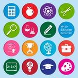 Collection de vecteur : ensemble d'icônes d'éducation Images stock