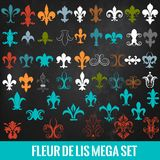 Collection de vecteur fleur de lis royal pour la conception Images stock