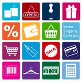 Collection de vecteur : icônes d'achats Photos libres de droits