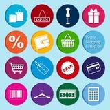 Collection de vecteur : icônes d'achats Image libre de droits