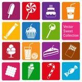 Collection de vecteur : icônes de bonbons Image stock