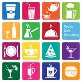Collection de vecteur : icônes de café et de restaurant Image libre de droits