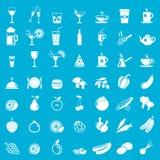 Collection de vecteur : icônes de nourriture Image libre de droits