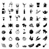 Collection de vecteur : icônes de nourriture Images libres de droits
