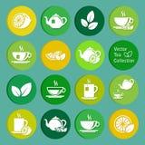 Collection de vecteur : icônes de thé Photos libres de droits