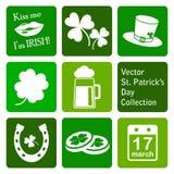 Collection de vecteur : icônes du jour de St Patrick Image libre de droits