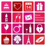 Collection de vecteur : icônes du jour de valentine de St Image stock