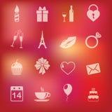 Collection de vecteur : icônes du jour de valentine de St Photographie stock